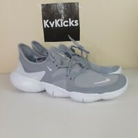 NEW Nike Free RN 5.0 Wolf Grey/White Running Shoes [AQ1289-001] Men's Size 10