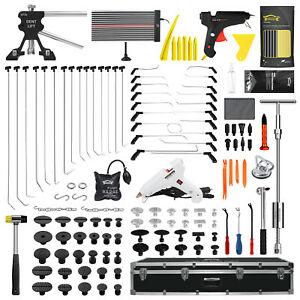 (PDR)Paintless Dent Repair Car Spring Bar Steel Rod Whale Tail 137PCS Luxury Kit
