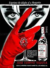 ADVERTISING DRINK ALCOHOL WOMAN EYES GLOVE USA ART POSTER PRINT LV700