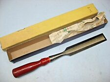 """Stanley No. 720 Wood Chisel, 1-1/4"""", Original Box, Never Used"""