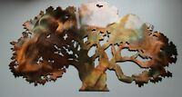 "The Oak Tree Metal Wall Art Accent Decor 20"" wide"