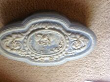 Blue & White Incolay Carved Stone Jewelry Box
