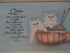 """home interior picture """"two kittens in basket of yarn"""""""