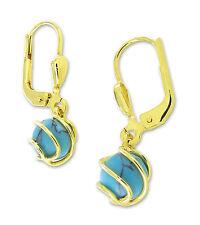 VASCAYA Damen Ohrhänger Ohrring Gold 333 Türkis blau Geschenk Geburtstag