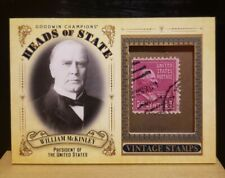 2020 UD Goodwin Champions William McKinley Heads of State Stamp Relic #HS-21