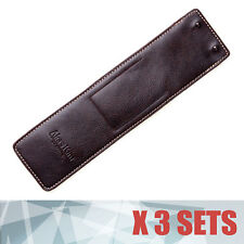 3X Brown Leather Men Women Wrist Watch Protector Case Pocket Holder Travel Pouch