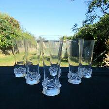 6 flûtes à champagne en cristal Daum modèle sorcy signé H 14,2 cm 2