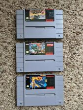 Super Nintendo SNES Lot of 3 Games: F-Zero, Street Fighter II, Starfox