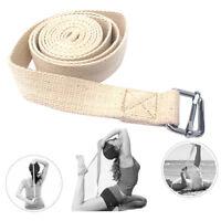 Sport Yoga Stretch Strap D-Ring Belts Gym Waist Leg Fitness Adjustable Belt Band