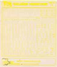 Verlinden Productions 1:72 Aircraft Stenciling No.3 Yellow Decal Sheet #173