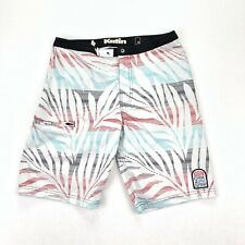 Katin Custom Surf Surfing Trunks Patch Logo Red White Blue Palm Trees • Size 28