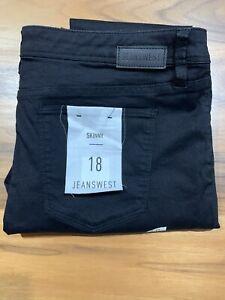 Jeanswest Size 18 skinny black jeans