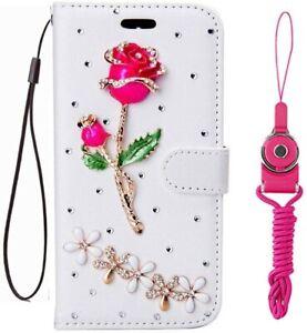 For Nokia 4.2/5.3/8.3/ 2 V Tella/ 2.4 /C3 Bling Leather Wallet Bling Phone Cases
