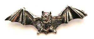 Vampire Bat Pewter Pin Badge in Gift Pouch FREE UK Delivery!