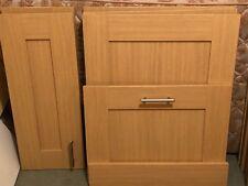 Various B&Q Kitchen Doors and Filler Oak Effect Shaker (with handles)