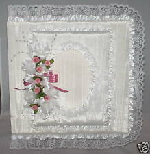 """White w/ Rose """"Happily Ever After"""" 12x12"""" Wedding Album"""