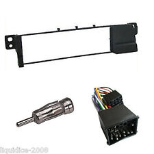Bmw E46 hasta 2005 Negro Single DIN Panel Facia Adaptador Panel Paquete Kit