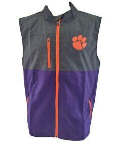 NEW! Men's NCAA  Clemson Tigers Zipper Front Lightweight Vest- Size Medium