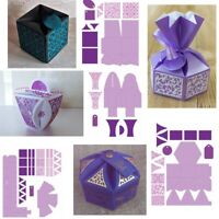 3D Small Boxes Gift Box Metal Cutting Dies DIY Craft Embossing Stencil Scrapbook