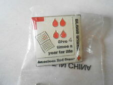 American Red Cross Give Blood 4 Times a Year Lapel Pin