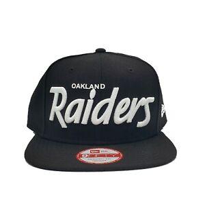 Oakland Raiders New Era 9Fifty Oakland Script Original Fit Snapback Hat NFL