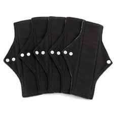 11pc Set Women Charcoal Bamboo Regular Flow Cloth Menstrual Pads Sanitary Pads