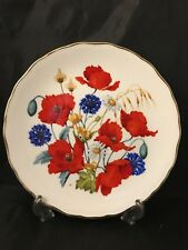 More details for cornfield popies royal albert by jo hague plated limited edition wild flowers