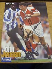 90-2000's Autographed Magazine Picture A4: Arsenal - Jensen, John. We try and in