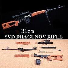 1/4 escala SVD Dragunov-Soviet Russian francotirador Diecast Metal AK47 Modelo Spetznaz