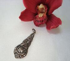 alter Rosen Anhänger Silber Markasite Kettenanhänger Pendant Rose / bc 778