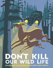 WPA Serigraph Natl Park Poster-Don't Kill Our Wild Life