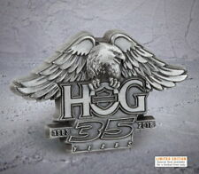 HARLEY DAVIDSON OWNERS GROUP 35TH ANNIVERSARY PIN VEST PIN 115TH HOG JACKET PIN