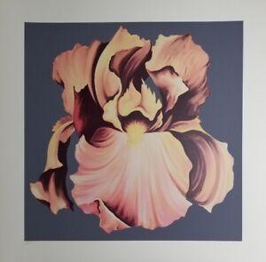 """LOWELL BLAIR NESBITT Limited Edition Silkscreen """"Iris""""  Hand Signed  1978 Great!"""