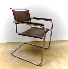 THONET S 34  - STUHL  Freischwinger braunes Leder Thonet chair Mart Stam