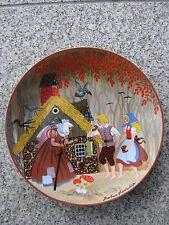 ASSIETTE DE DECORATION PORCELAINE LES CONTES  BARBARA FÜRSTENHÖFER 19,7 cm