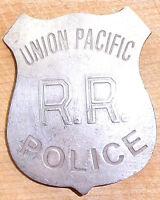 UNION PACIFIC RR POLICE BADGE BW81  WESTERN SHERIFF MARSHAL POLICE