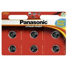 6x CR2032  Lithium-Batterie  3,0Volt  220mAh  ø20,0x3,2mm Panasonic Blister