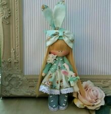 Rag doll handmade in UK Tilda doll Ooak doll Easter bunny BEATRICE 8 inch tall