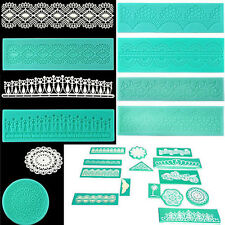 Silicone Lace Shaped Mold Sugar Craft Embossing Mould Fondant Cake Tools DD