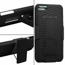 IPhone 5C Slide Holster Bell Clip Case Cover w Kickstand Black Tempered Glass SP