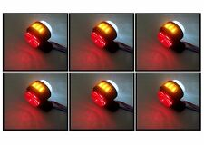 6 X 24V SIDE AMBER RED WHITE MARKER LIGHTS INDICATOR LED TRUCK TRAILER CHASSIS