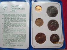 Großbritannien - Isle of Man KMS 1976 - Decimal Coin Set
