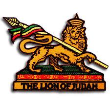 Lion of Judah Rastafari Patch Reggae Rasta Bob Marley Jamaica Embroidered Emblem