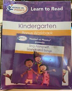 Hooked on Phonics Kindergarten Bonus Workbook Sing Along With Sounds Songs New