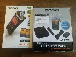 TASCAM Wi-Fi connection PCM recorder DR-22WL With Accessory kit New