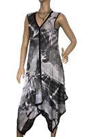 MESMERIZE SIZE L SPOTTED ASYMMETRICAL DESIGN DRESS
