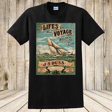 New Life's Voyage T-shirt- Antique Sheet Music Art- 1800s Sailing Sailboat Shirt