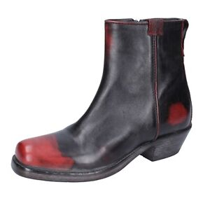Women's shoes MOMA 4 (EU 37) ankle boots red leather black BJ651-37