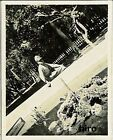 Japan Army old photo Imperial 1942 Pacific War Military Soldier sit pond
