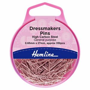 Hemline 300 Dressmakers Dressmaking Sewing Pins 27mm  H700